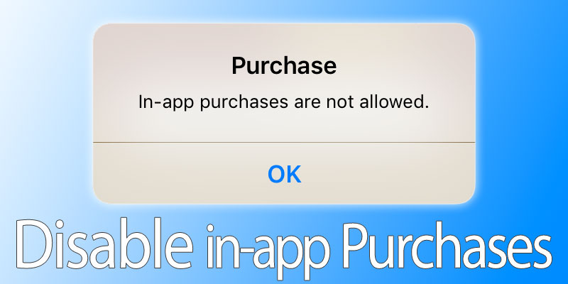 turn off in-app purchases on iphone