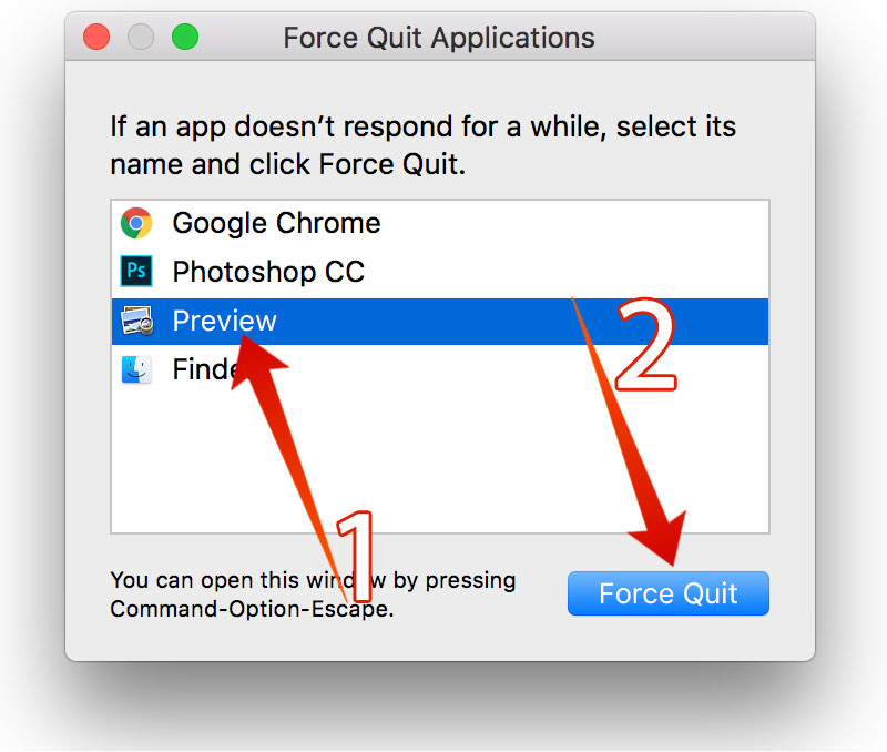 force quit app on mac