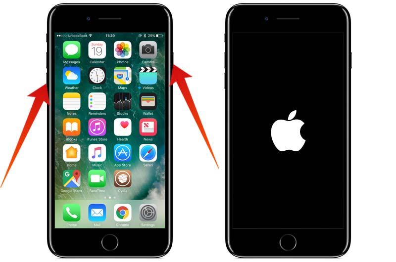 reboot iphone 7 plus