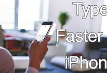 type faster on iphone