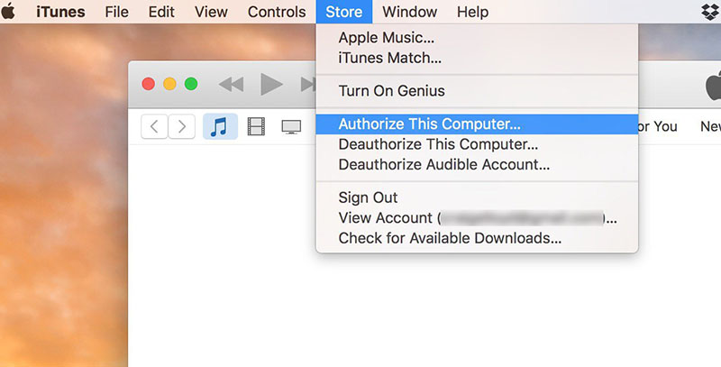 authorize computer in itunes