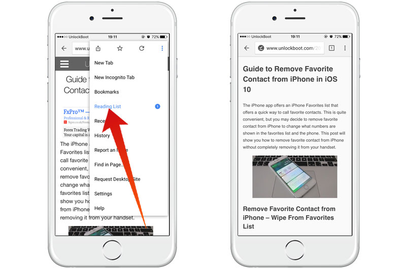 read pages offline in chrome for ios