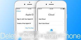 delete icloud iphone