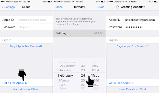 reset icloud password on iphone