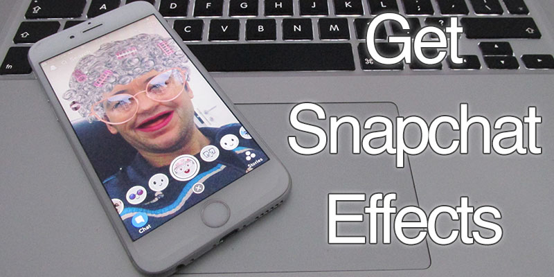 use snapchat filters on iphone