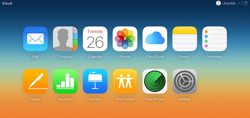 iCloud Website Content