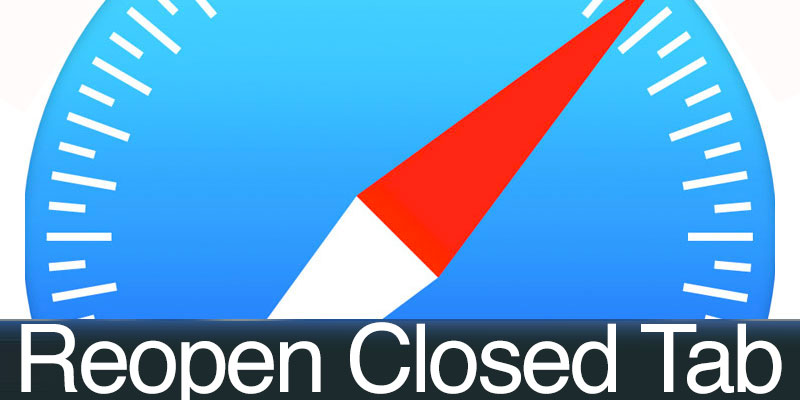 reopen a closed tab in safari