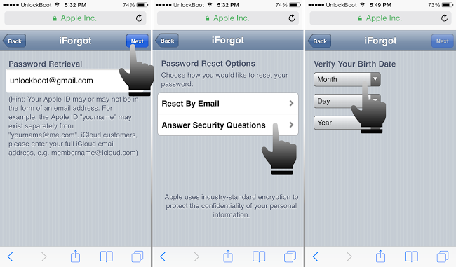change icloud password on iphone