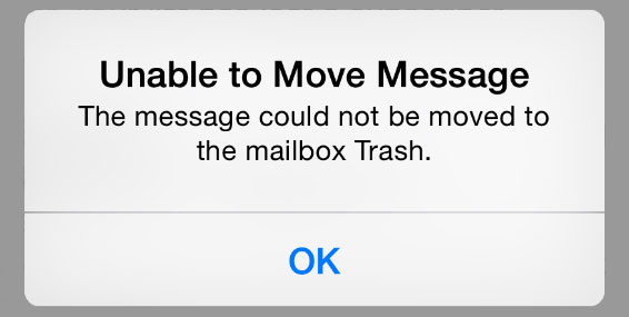 unable to move message on iphone