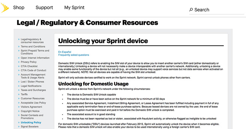 unlock iphone 8 sprint