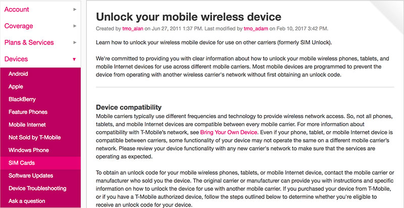 unlock iphone 8 tmobile