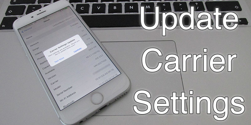 update carrier settings on iphone
