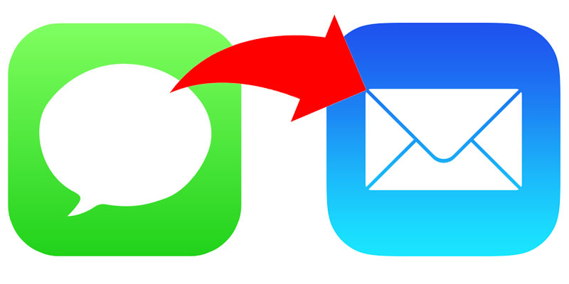 forward imessage to email