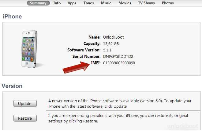 how to find iphone imei code