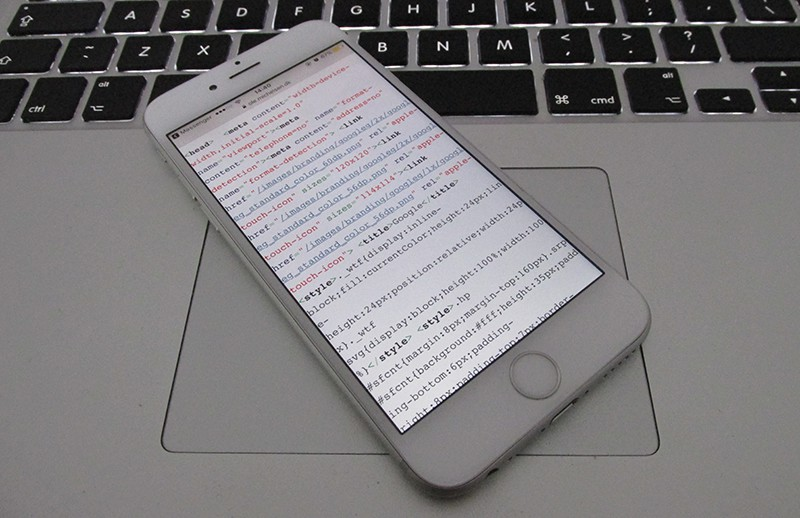 view source code on iphone