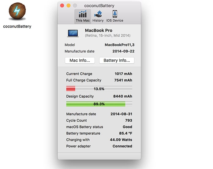 check macbook battery cycle count