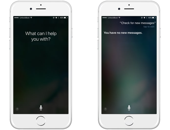 check new messages with siri