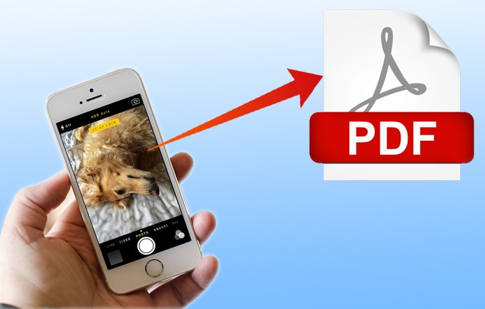 convert image to pdf on iphone