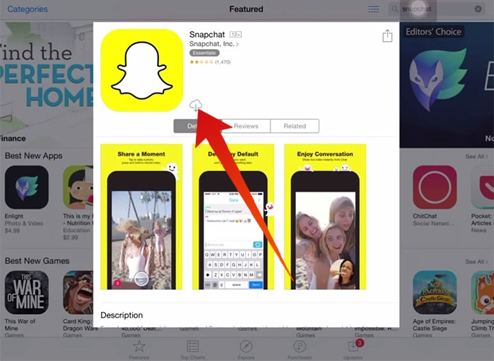 snapchat for ipad download