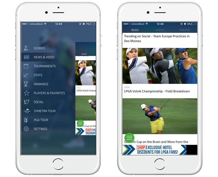 golf apps for iphone