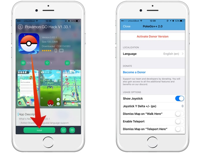 download poke go++ for iphone