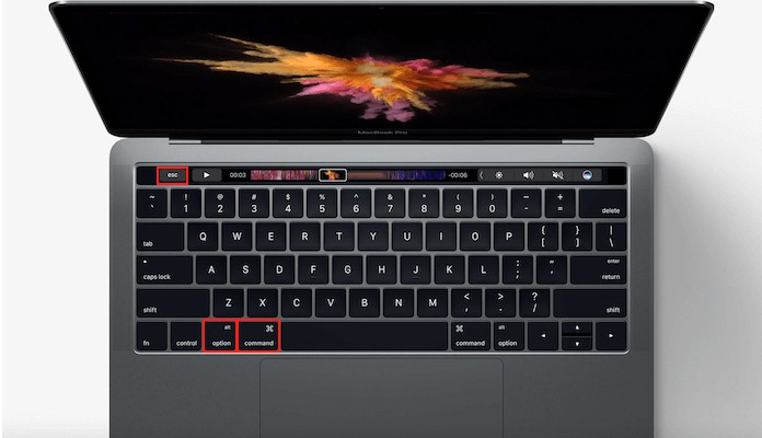 force quit shortcut on mac