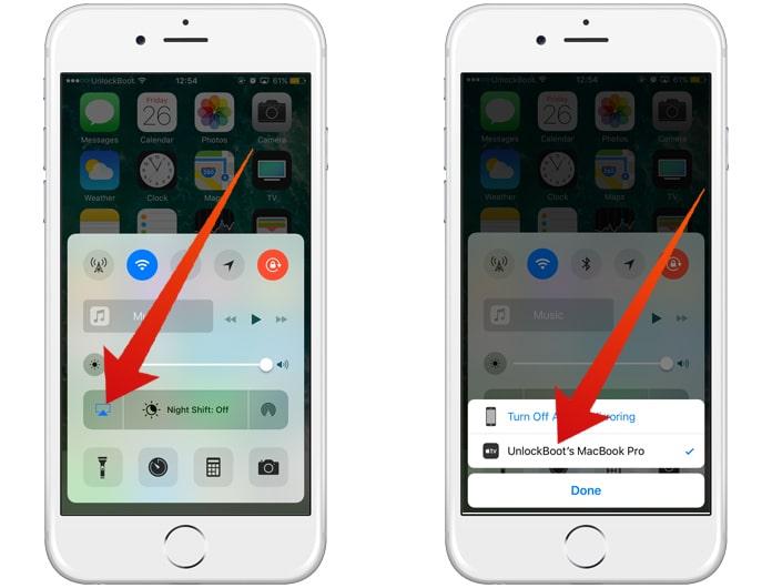 airplay iphone to macbook
