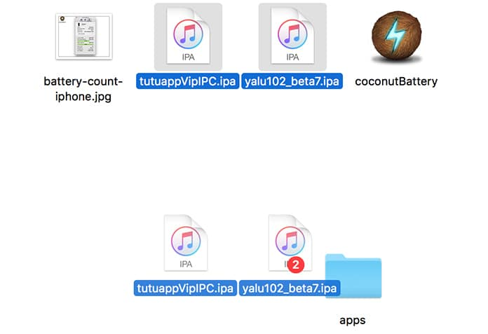 select multiple files on mac