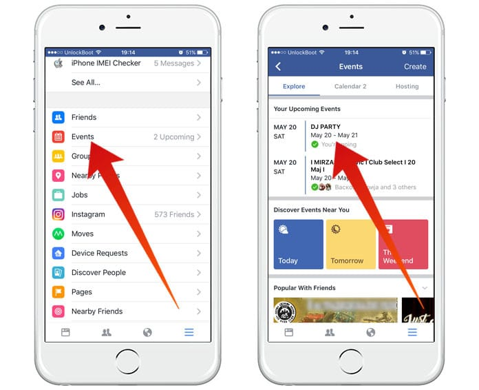 disable facebook event notifications