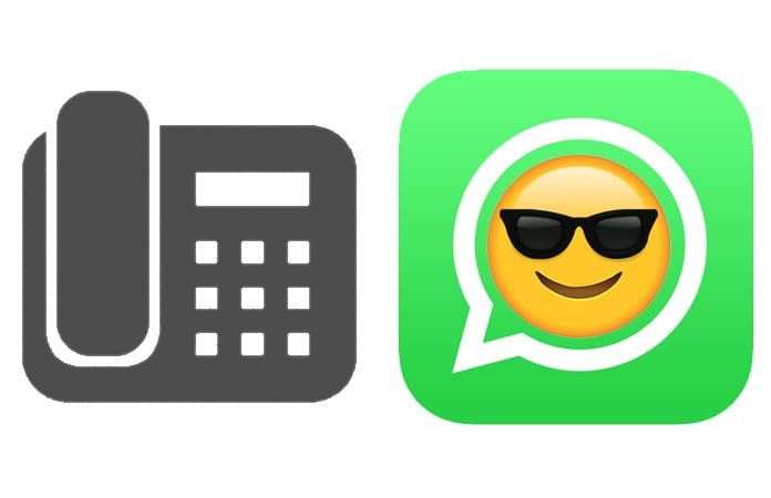 verify whatsapp with landline