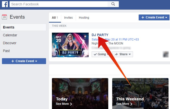 disable events on facebook