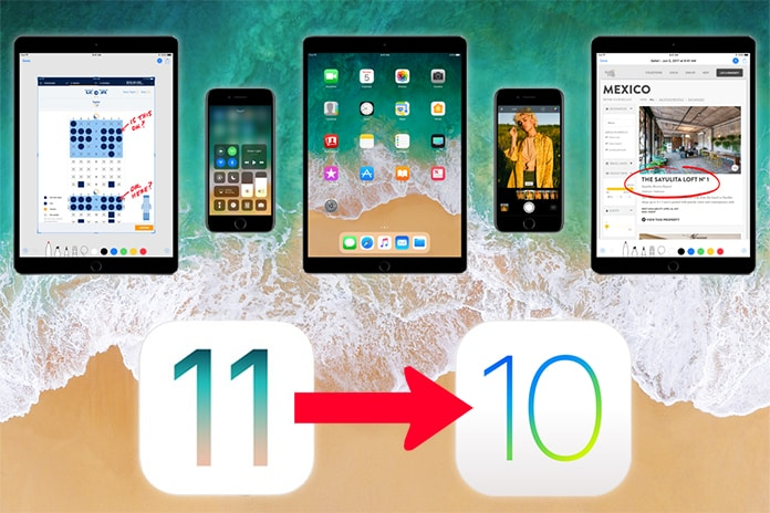 downgrade ios 11 to ios 10.3.2