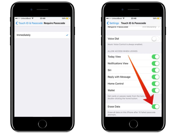 encrypt data on iphone