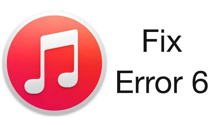 itunes error 6