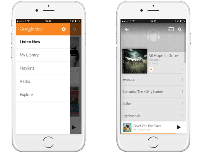 google play music for iphone