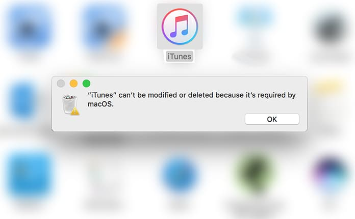 itunes can't be modified or deleted