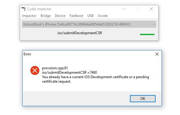 Cydia impactor error 81 2019