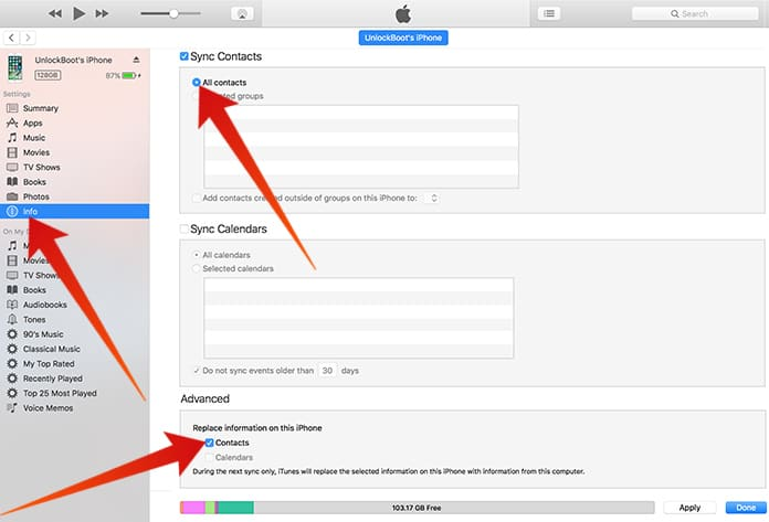 transfer contacts from iphone to iphone without icloud