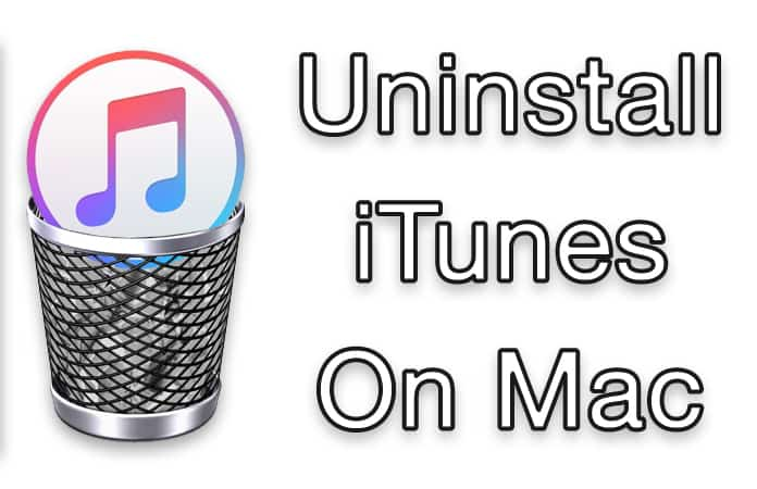 uninstall itunes on mac