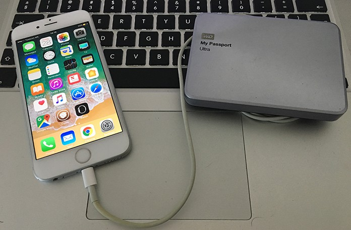backup iphone to external hard drive