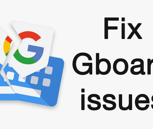 gboard not working on iphone