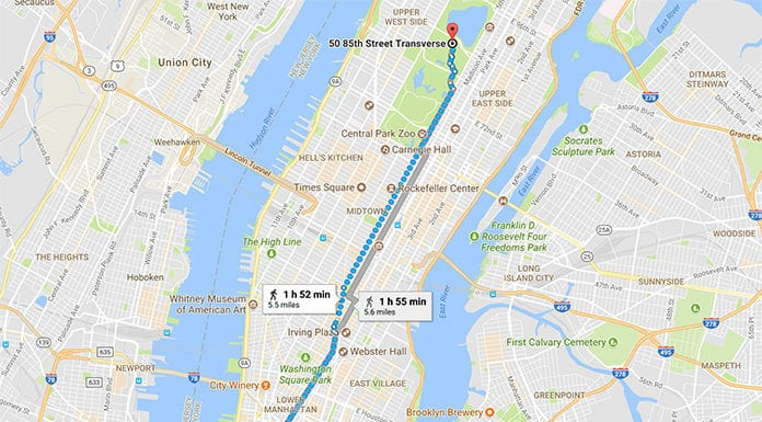 google maps walk directions
