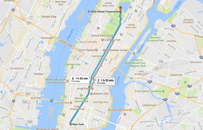google maps walk directions
