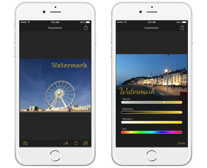 watermark app for iphone