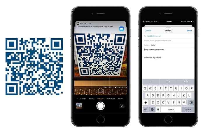 qr code reader iphone scan qr codes with iphone running ios 11 using the app 5911