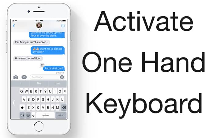 one hand keyboard ios 11