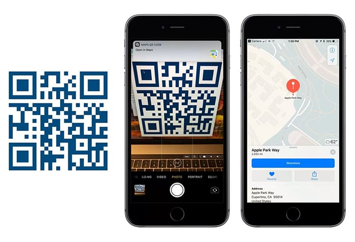iphone qr reader built in