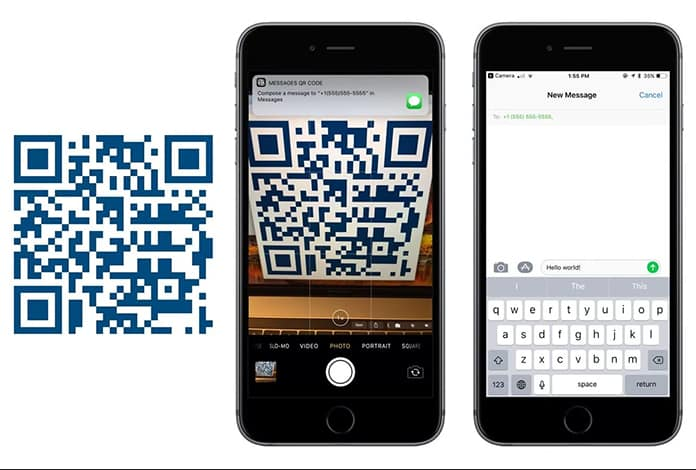 qr code iphone ios 11