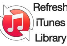 refresh itunes library