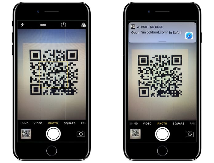 scan qr code iphone scan qr codes with iphone running ios 11 using the app 16060